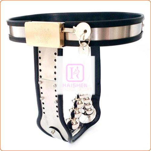 Double Removable Anal Plug Chastity Belt