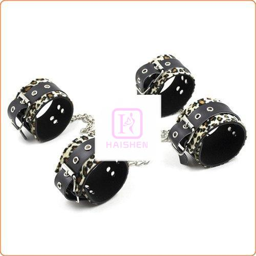 Leopard Wrist and Ankle Cuffs Kit