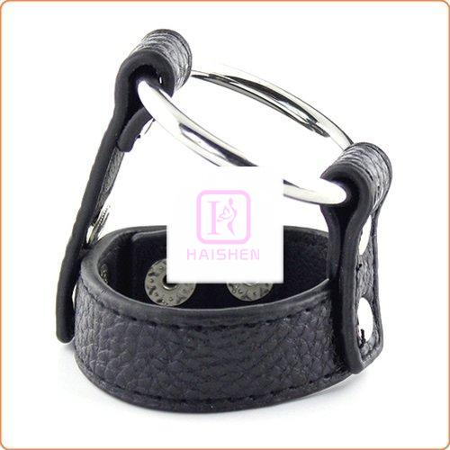 Lichee Pattern Double Cock Ring Harness