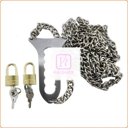 Locked Away in Chains Stainless Steel Female Chastity