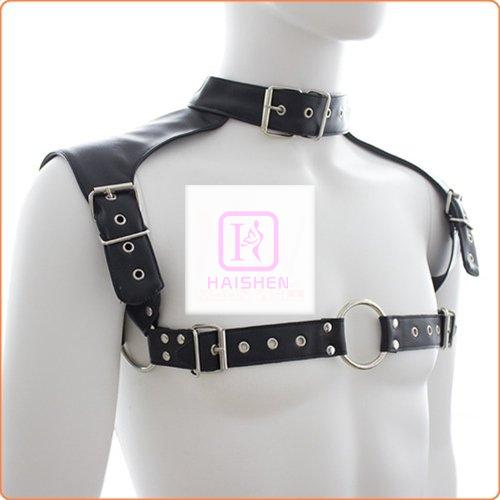 Neck Collar Body Harness Leather Straps