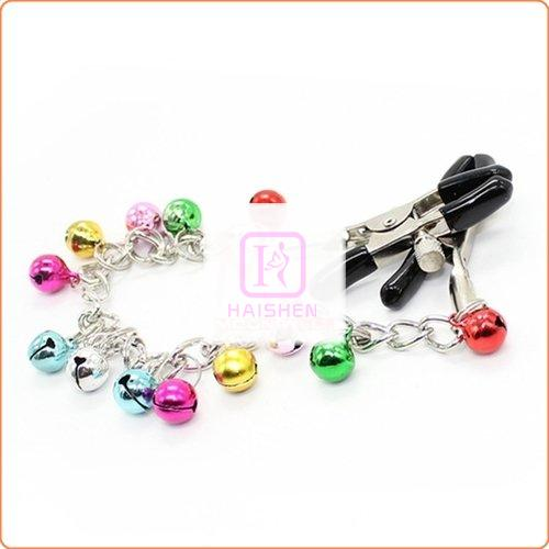 Ornament Adjustable Nipple Clamps with Bell Chain
