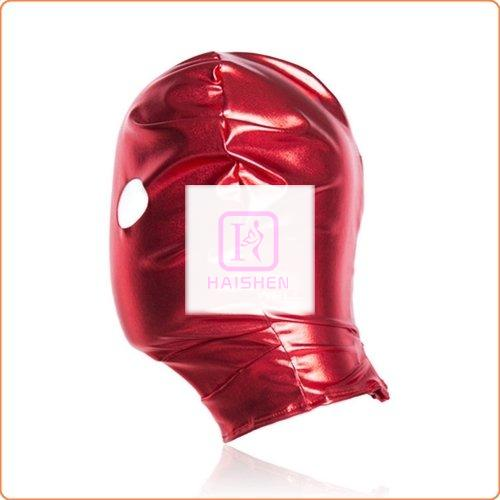 Patent Leather Hood with Open Eyes
