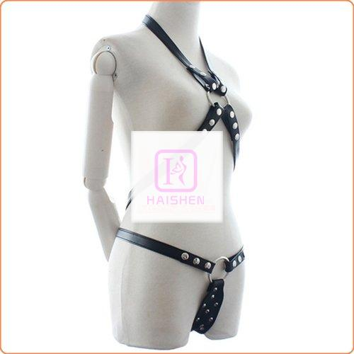 Power  Body Harness With Chastity Belt