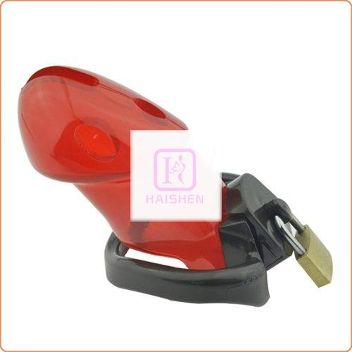 Rikers Locking Chastity Device - Red