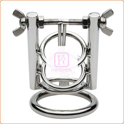 Stainless Steel Urethral Spreader CBT Chastity Cage