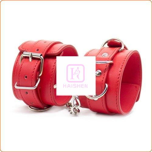Three D Ring Pin Buckle Wrist and Ankle Cuffs