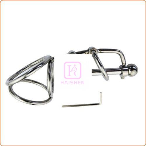 Triple Rings Base and Steel Urethral Tube