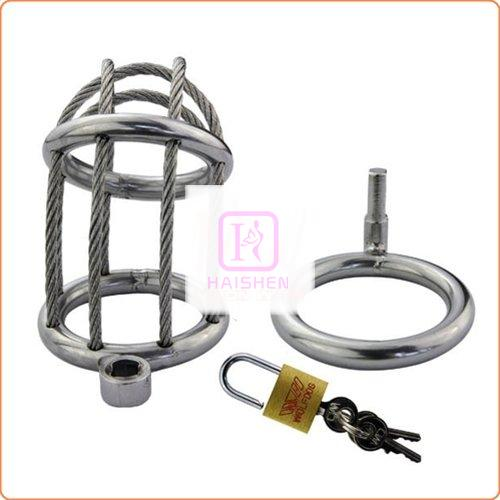 Wire Locking Cock & Ball Chastity Set