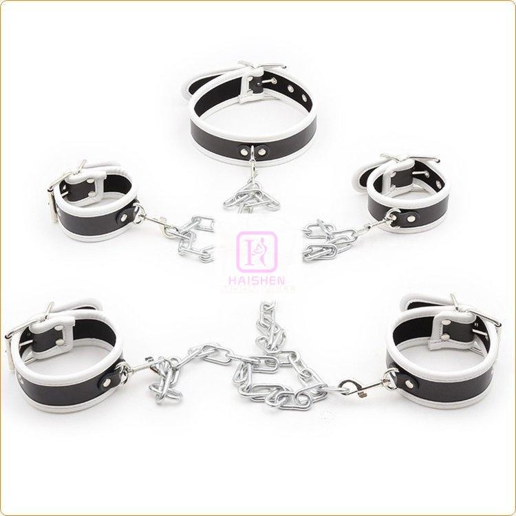Wrist And Ankle Cuffs With Neck Collar