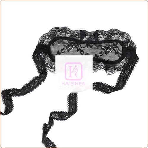 Black Charming Floral Lace Eyeshade Accessories