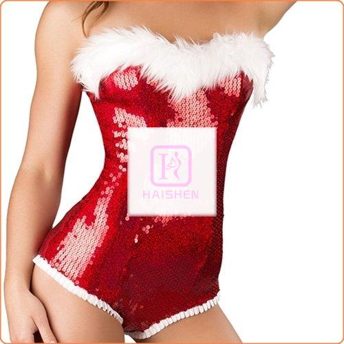 Bling Bling Christmas Role Play Sequined Teddy Costume