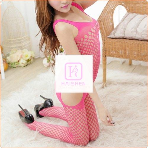 Charming Strappy Crotchless Fishnet Lingerie Jumpsuit