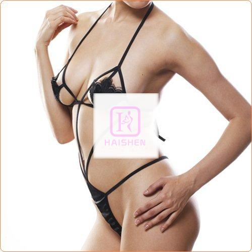 Fascinating Lace-up Shell Shaped Teddy One-piece Suit