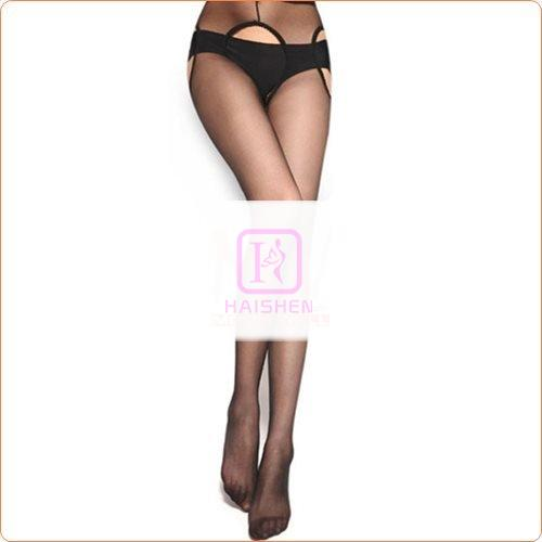 High Quality Hollowed-out Crotchless Silk Stockings