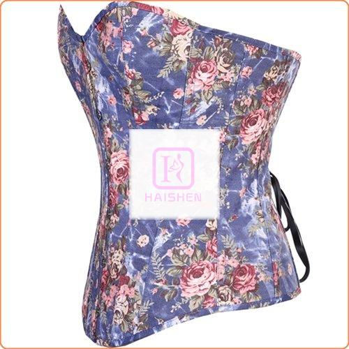 Hot Selling Flower Printed Buckled Shaper Corset With Thong