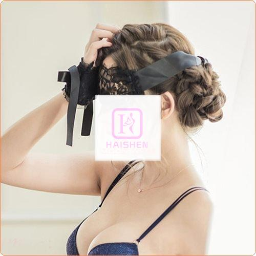 Ladies Lace Satin Eyeshade With Hand Flowers