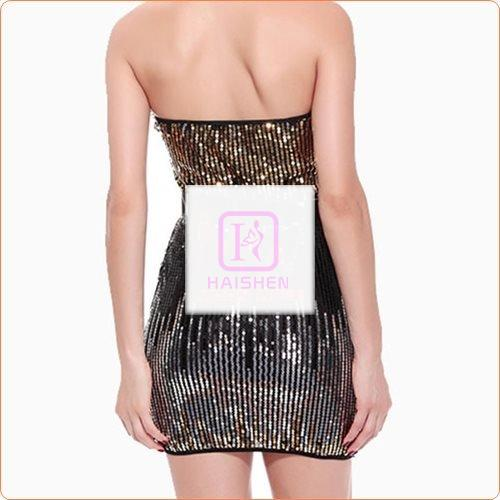 Ladylike Low Strapless Sequined Hot Evening Dress