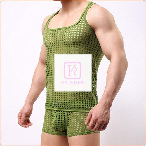 New Design Checked Hollowed-out Vest Made For Men