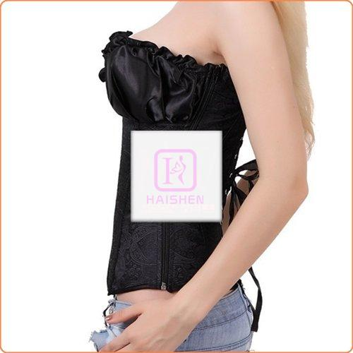Royal Strapless Embroidered Bandage Overbust Waist Trainer