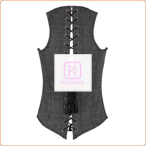 Sexy Cowboy Wear Chest Up Vest Bustiers With G-string