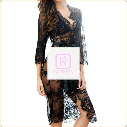 Sweet Pure Lace Transparent Gown With Panty