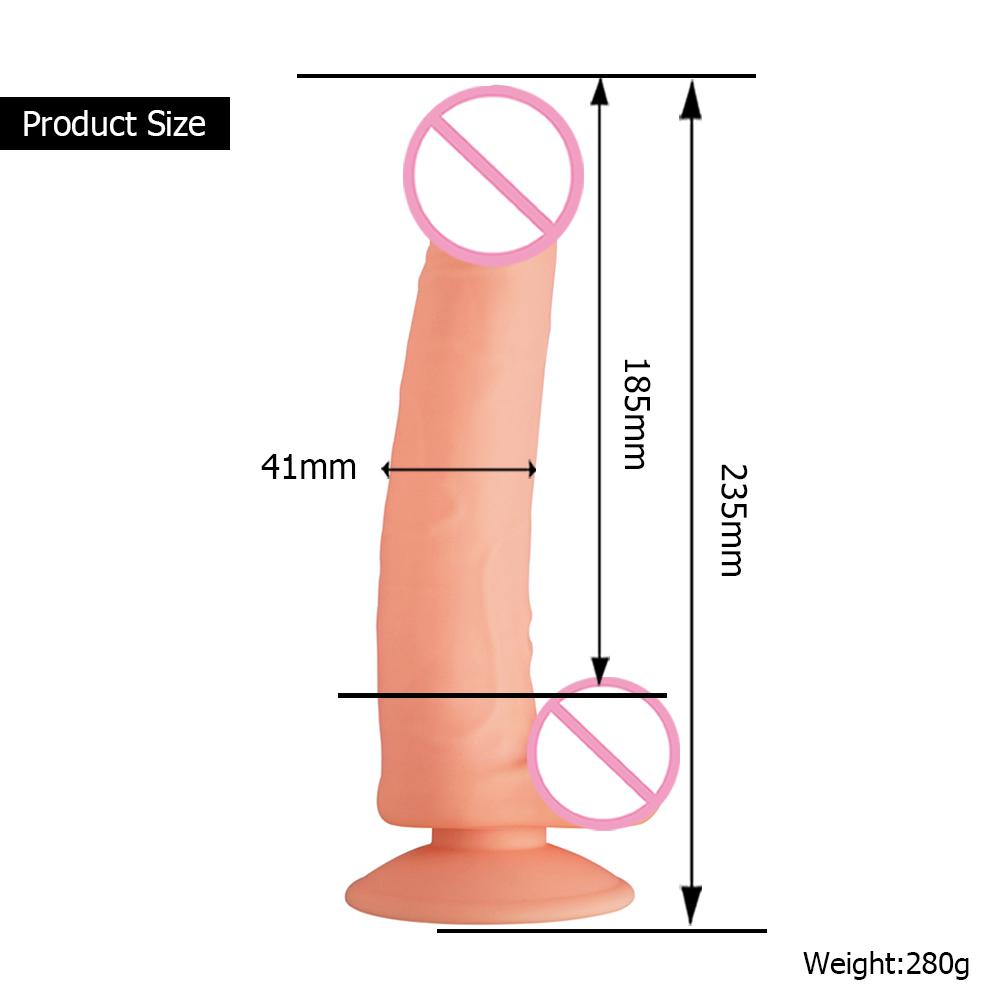 Top Selling Women Lifelike 7 Inch Powerful Suction Cup Huge Extra Super Long Dildo