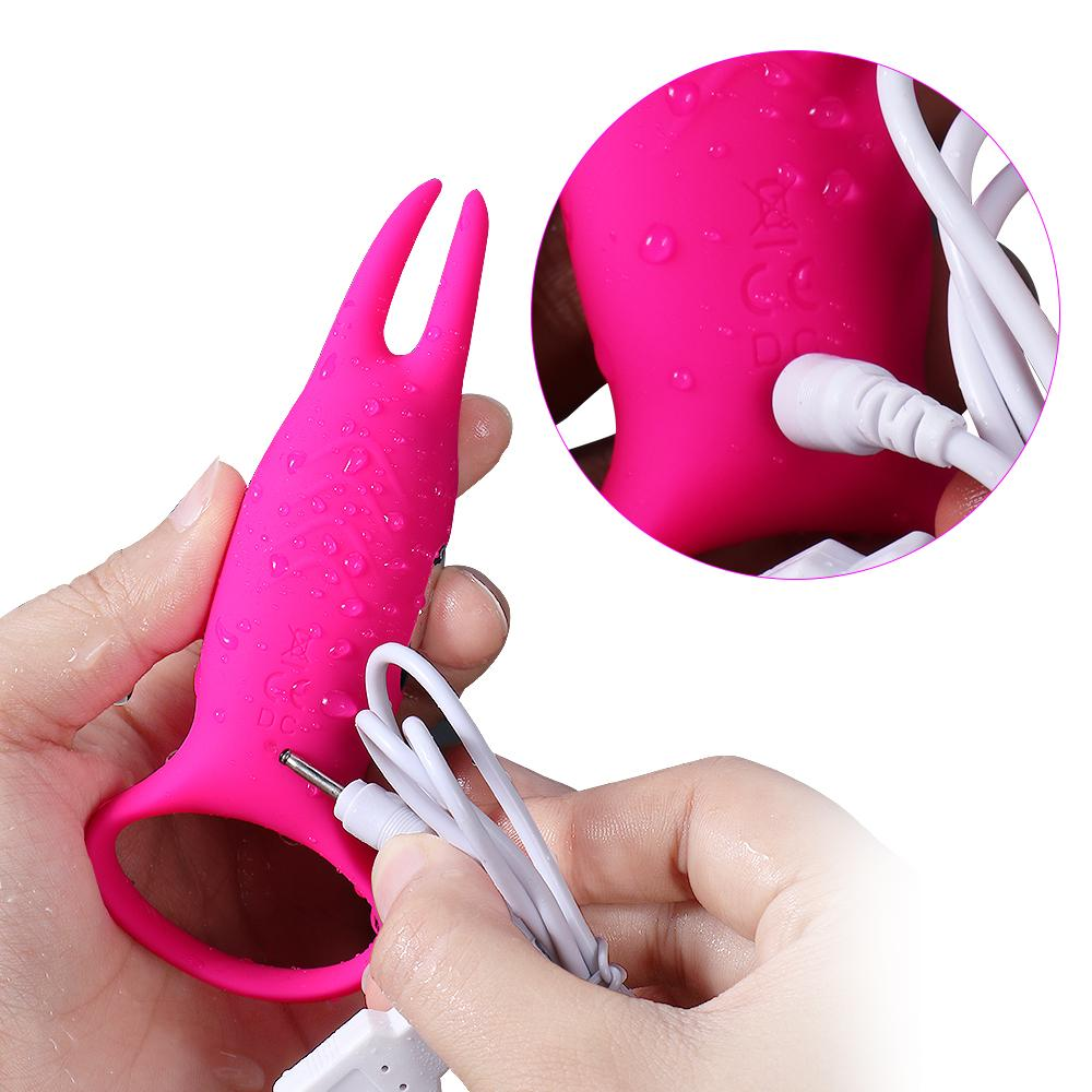 XISE SQ-V10046 Carol 10 speed massager Happy Rabbit silicone waterproof cock ring for male delay ejaculation masturbation