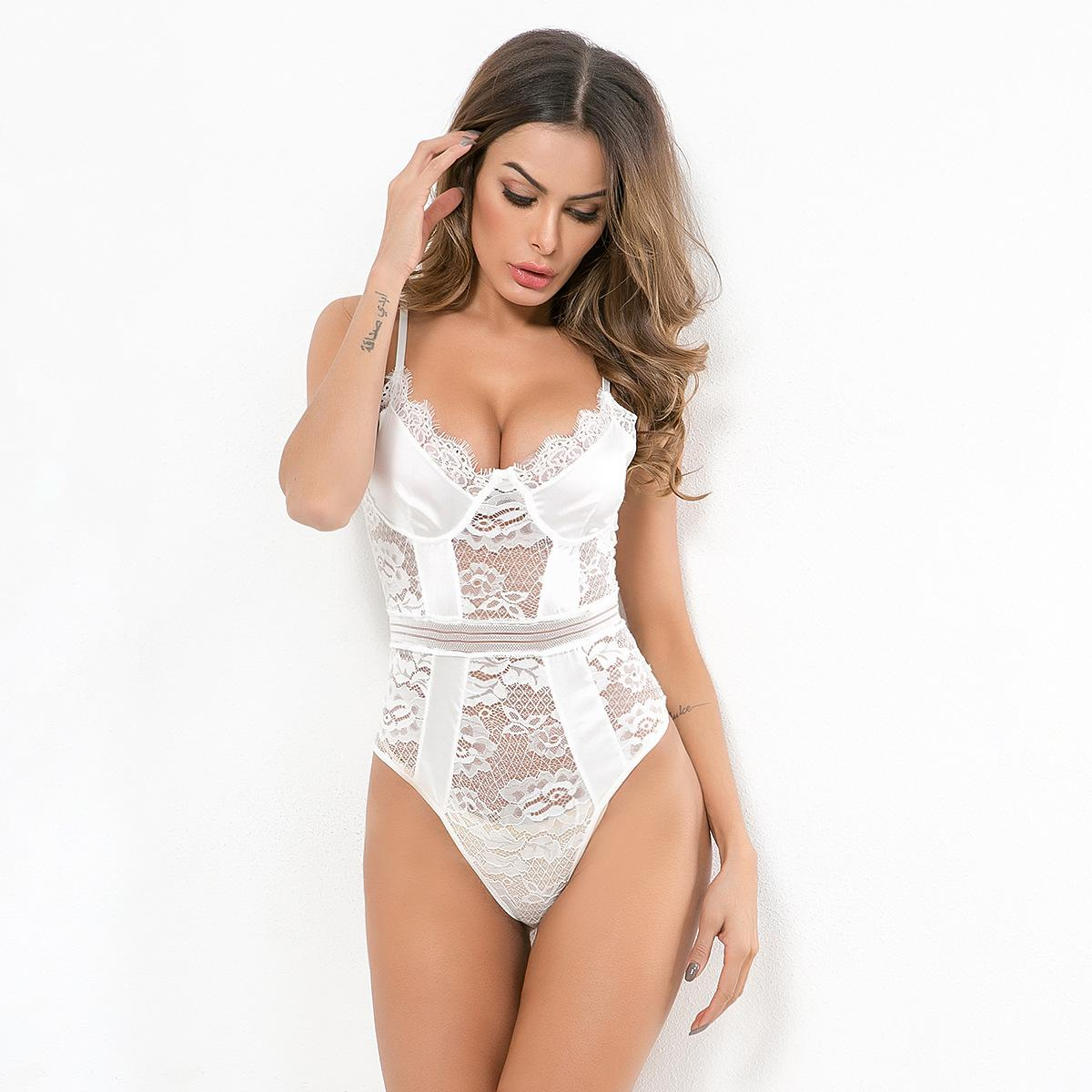 2020 New Women'S Bottoming One-Piece Lace Top, Sexy Lingerie, Body Shaping B