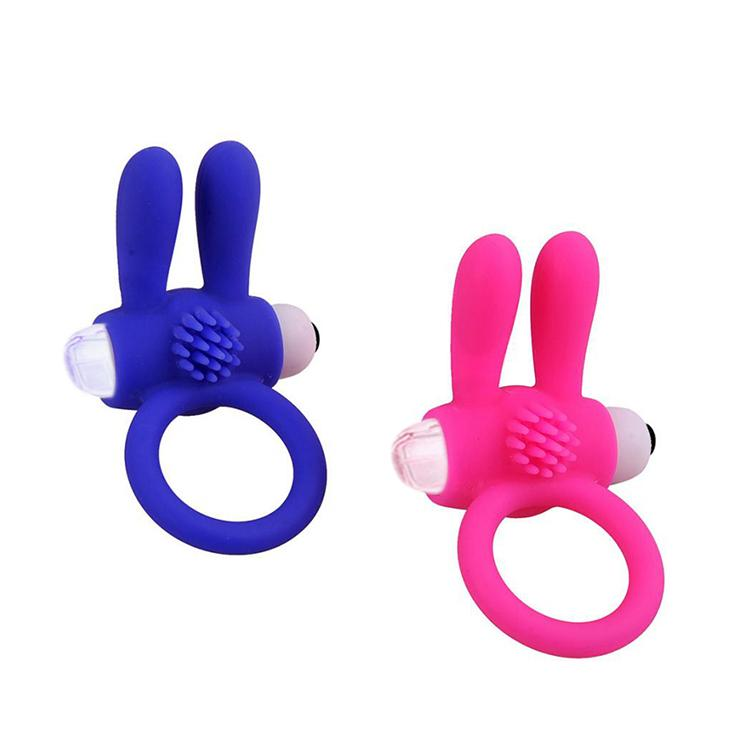 100% Silicone And ABS Vibrator Ring Sex Product