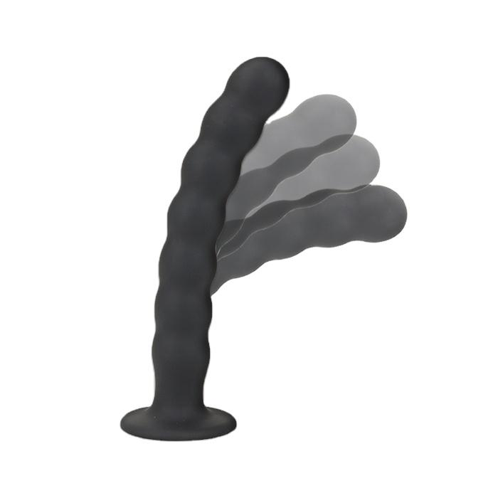Environmental Protection Silicone Sex Products Realistic Dildo Natural With Beads Fo