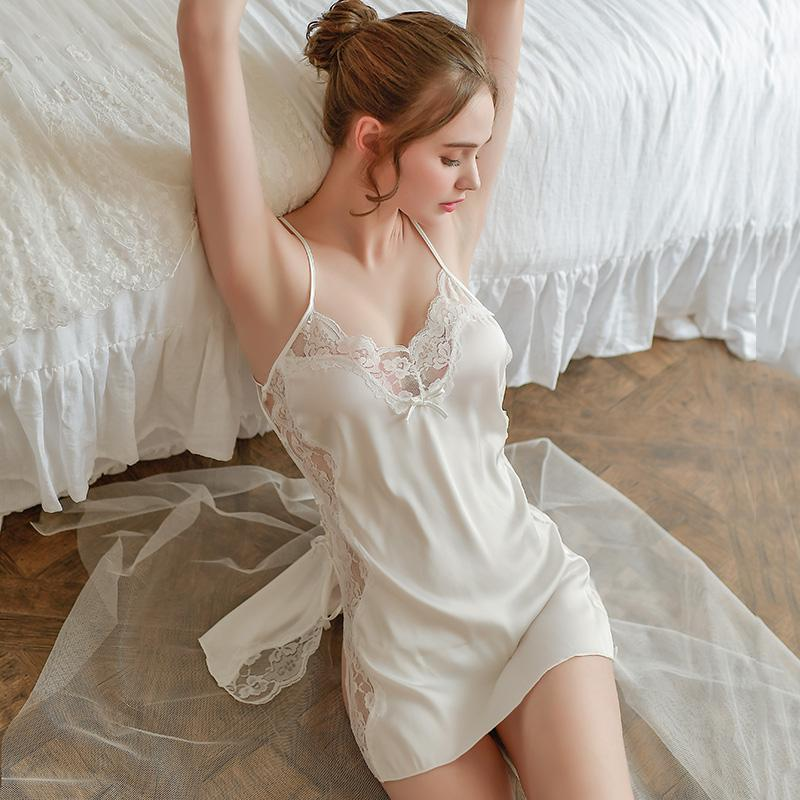 Factory Direct Selling Hot White Lace Sexy Nightwear And Suspender Sexy Ni