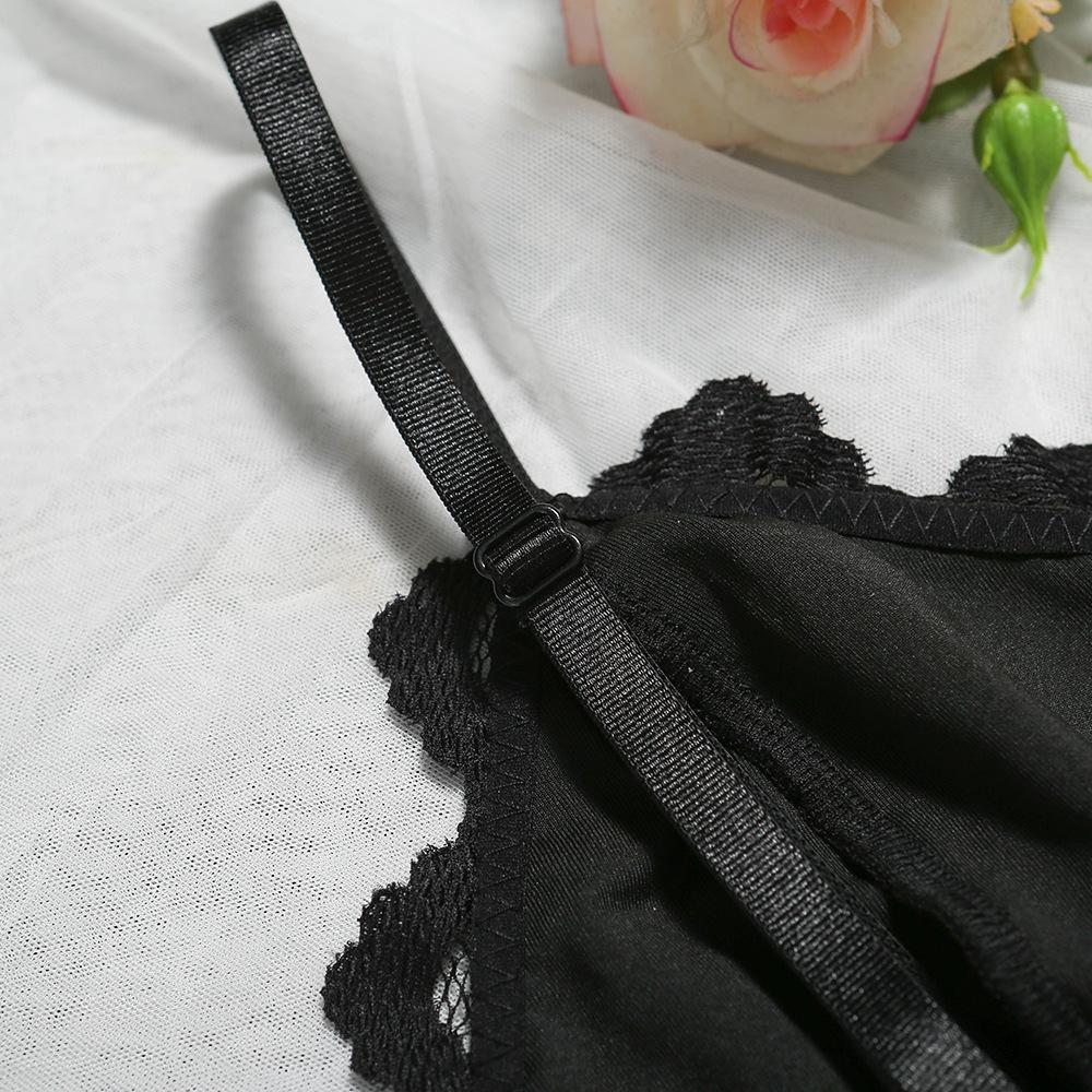 European And American Style Ladies Black Lace Eyelashes Lace With Steel Ring Strap Sexy Fashion U