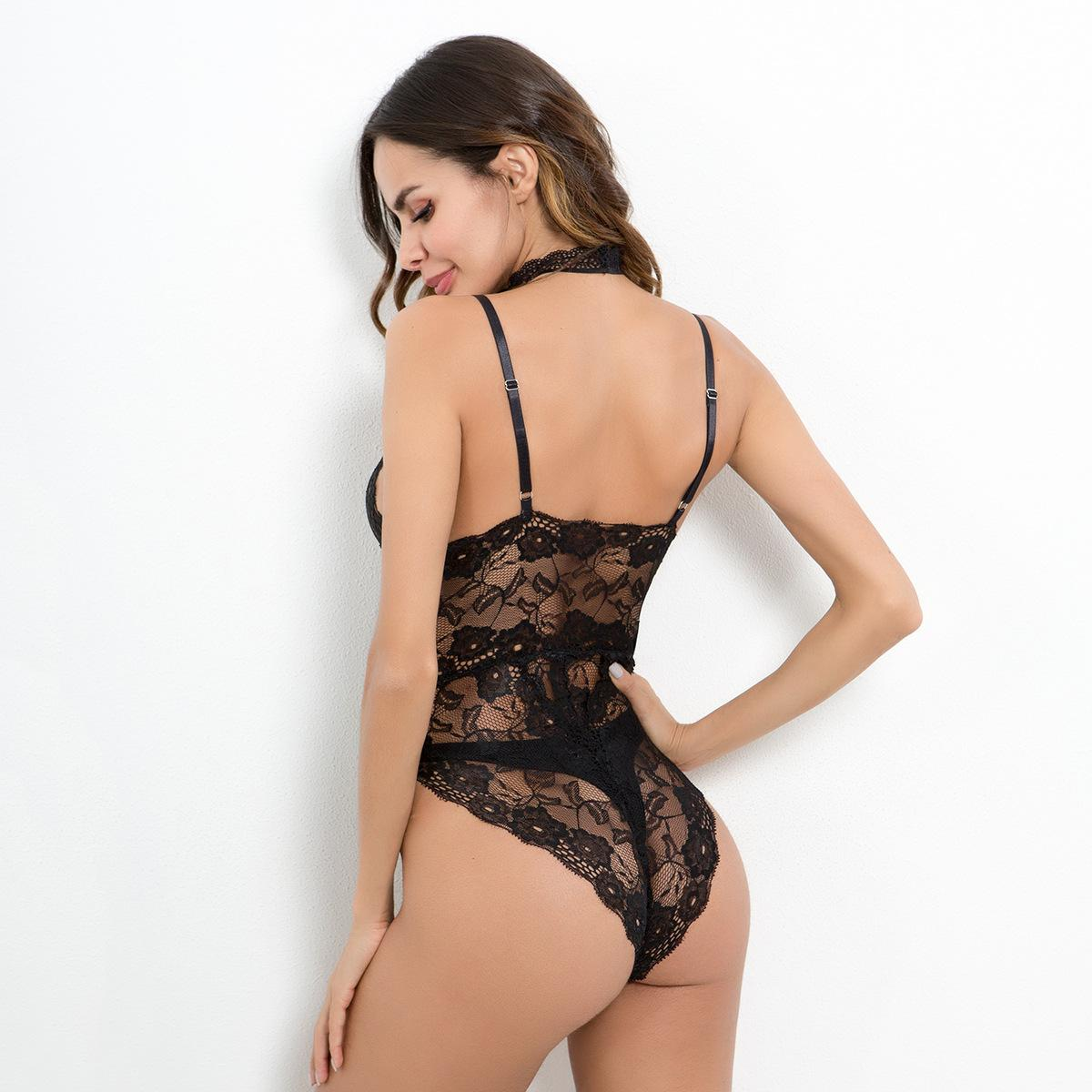 Europe And The United States Hot Sexy Black Lace Sexy Transparent