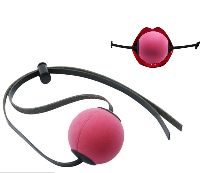 Sex Toys Flail Slave Mouth Ring Gags Open Mouth Ball Gag with Cotton Ball Adult Sex Restrai