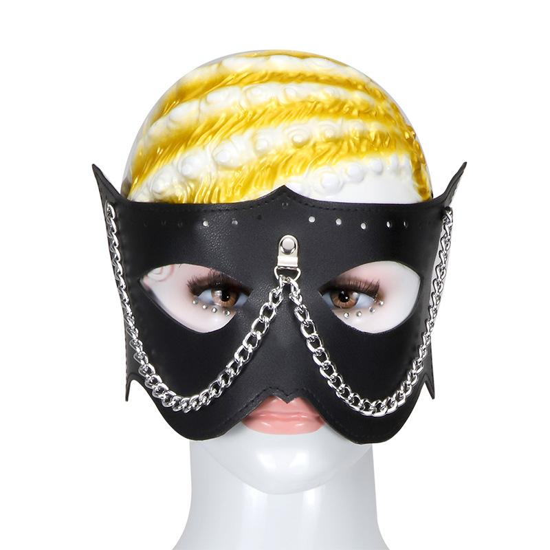 Metal Ring PU Valentine's Day Black Enchanting Accessories Hollow Out Women Halloween Mask Party Mask Eye Mask Sex