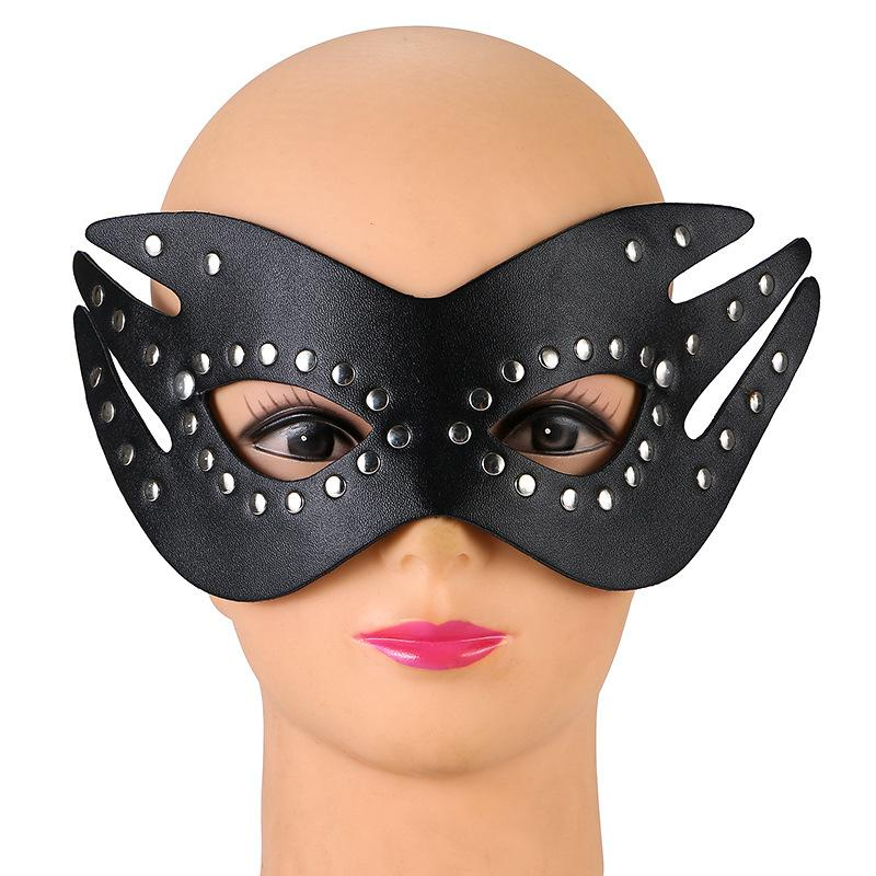Sexy PU leather Eyewear Girls Lady Women Half Face Eye Mask for Night Dance Ball party Adult Cosp