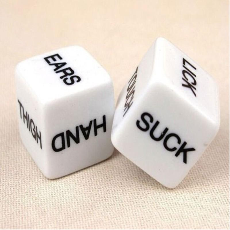 2 PCS Funny Sex Dice Romance Love Humour Party Gambling Adult Games Sex Toys Erotic Craps Pipe For