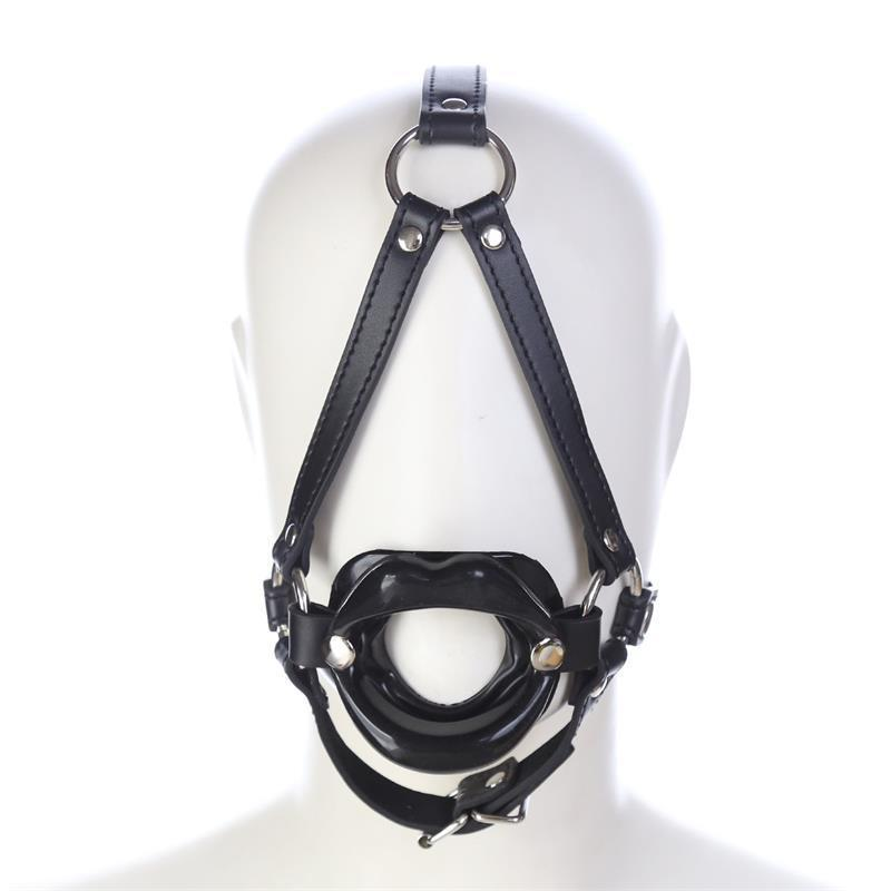 BDSM Bondage Sex Toy Open Mouth Head Mouth Gag For