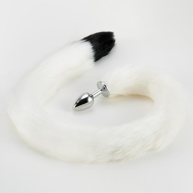 Long Dimension 86CM Foxtail Adult Anal Plugs Metal Sex Products for Mal