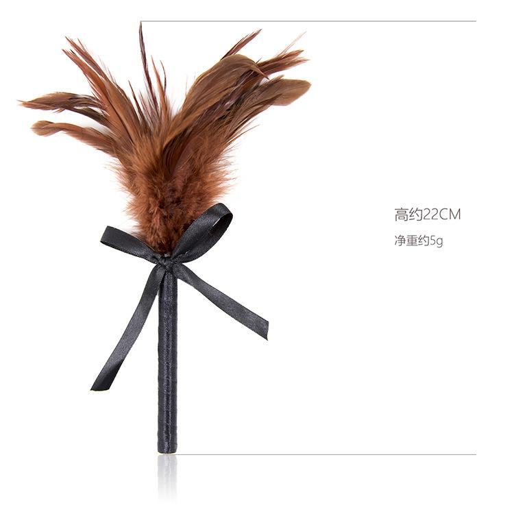 Factory Direct Flirting Butterfly Tie with Brown Feather Tickling Alternat