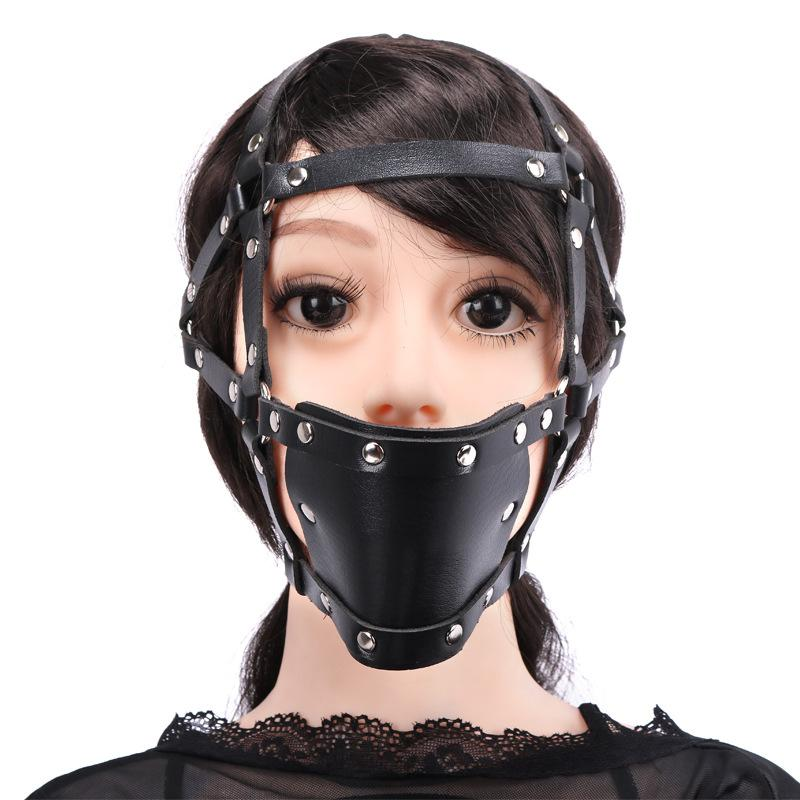 Bondage Adult Game Sex Erotic Mouth Pillory Wrapped Black For For Women Couple