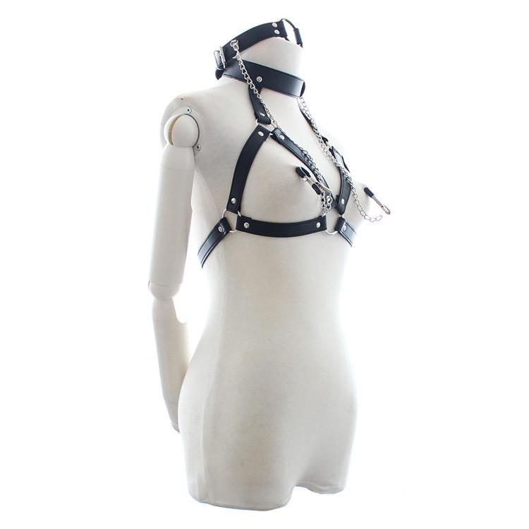 Body Harness Women Leather Clothes Sexy Harness Belt for Fem