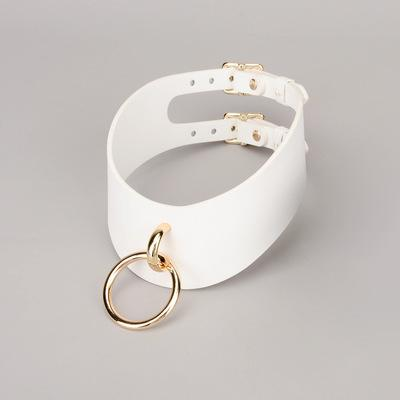 SM Alternative Ring Double Buckle Real Leather Nec