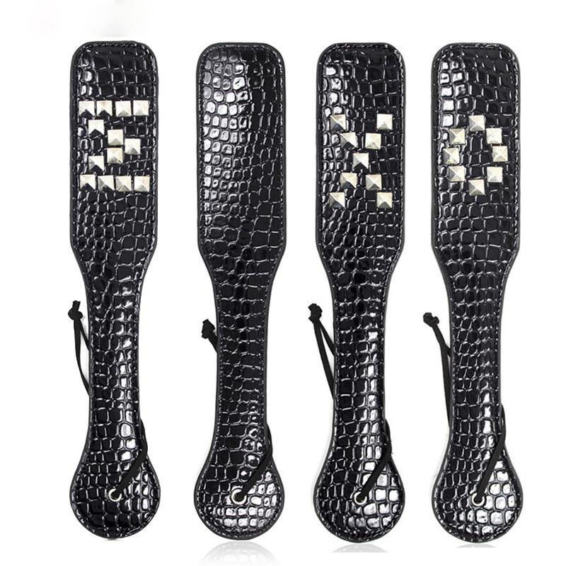 Luxury High Quality Leather Fetish Sex Spanking Paddles for Love Paddle Brus