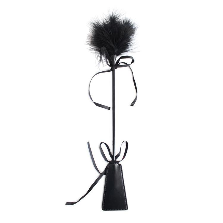 Top quality Black colors feather & paddles teasing flirting tickling sex toys for ad