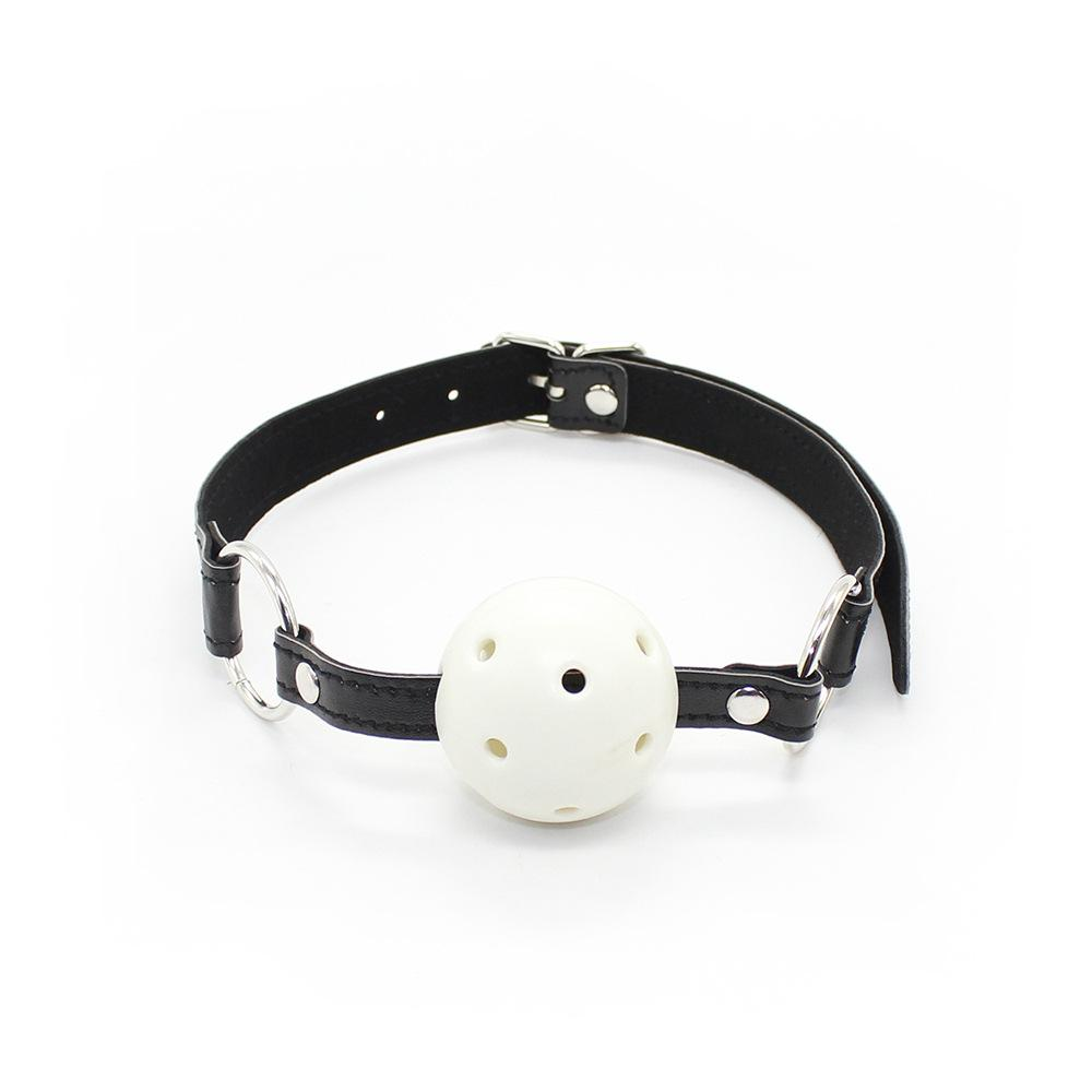 Factory Wholesale Fantasy sex toys leather colorful ball mouth gag with differen