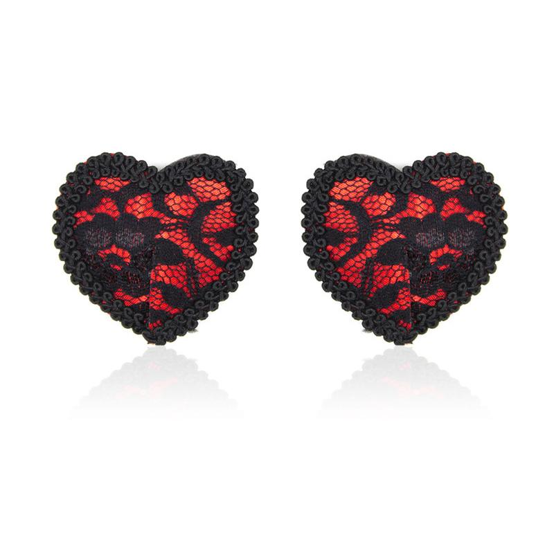 Heart Shaped Lace Pasties Sex Nippl
