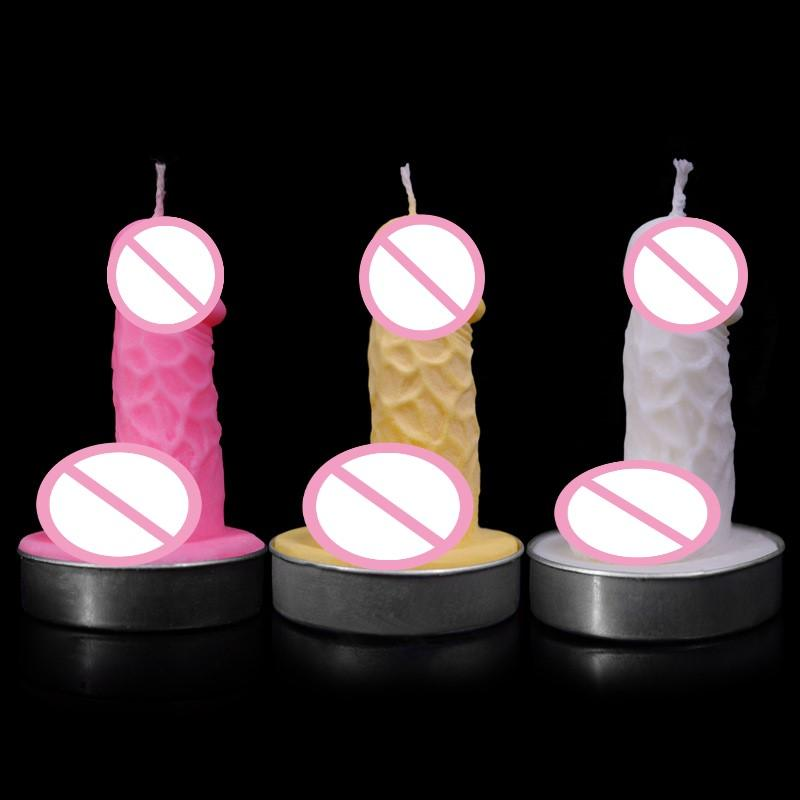 3 Sets of Low Temperature Candle Cock Shape Couples Flirting