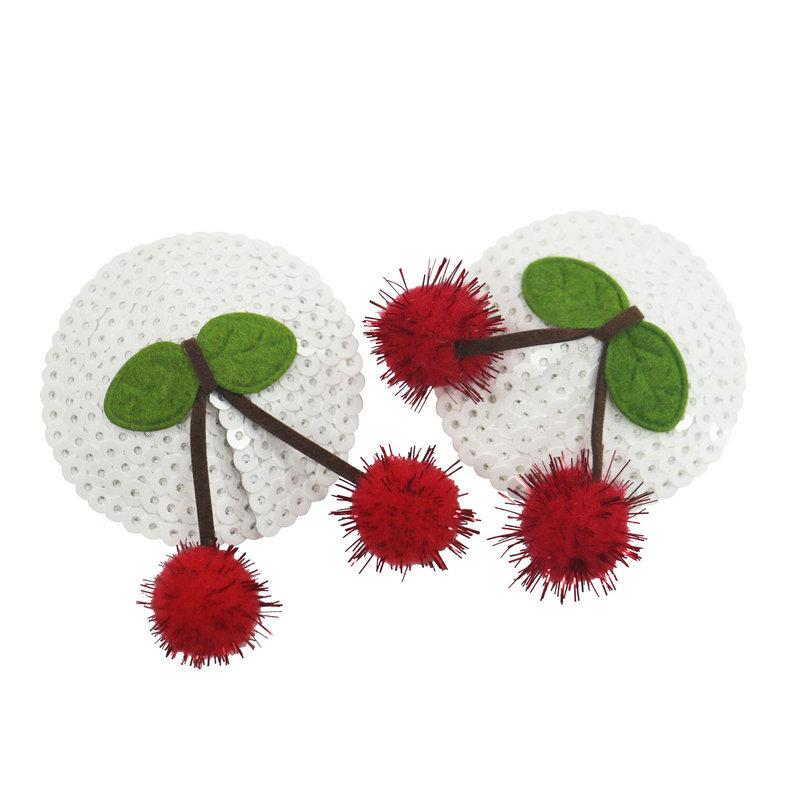 Red Pompom Cherry of Nipple Cover Pasties With